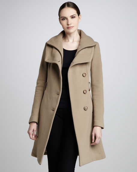 Marina Belted-Wool Coat