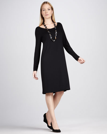 Jersey Scoop-Neck Dress, Women's