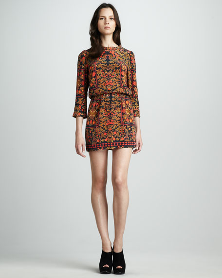 Lyana Printed Silk Dress