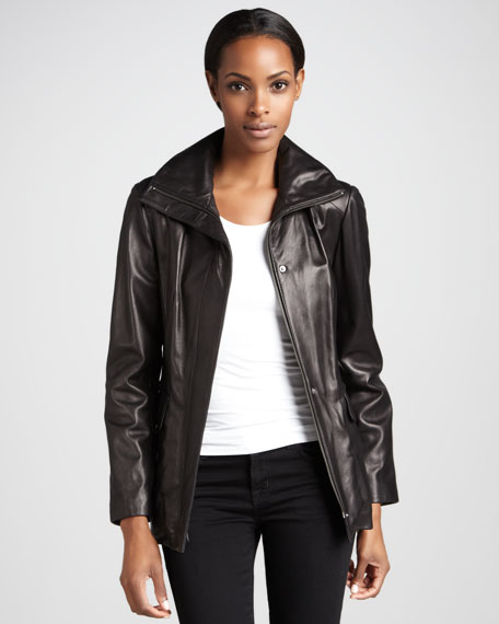 Leather Belted Jacket