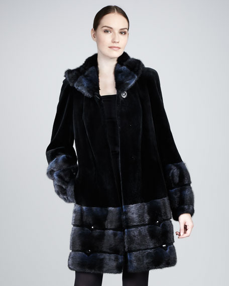 Belle Fare Sheared Mink coat