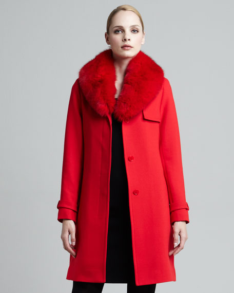 Mrs. Smith Fur Trench