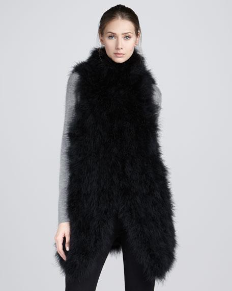 Wilshire Blvd Feather Vest