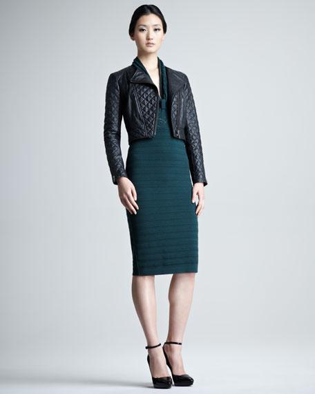 Knit Cap-Sleeve Dress