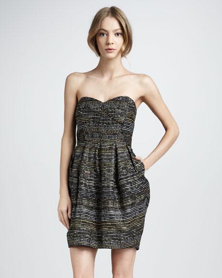 Jane Strapless Jacquard Dress