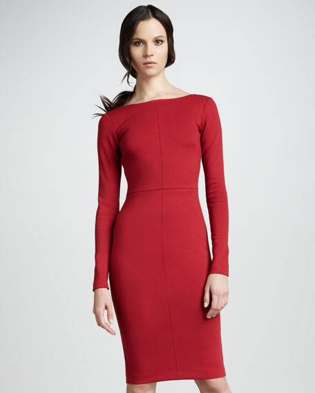Fitted Long-Sleeve Dress