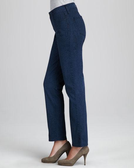 Sheri Novelty-Print Jeans