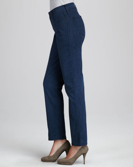Sheri Novelty-Print Jeans, Petite