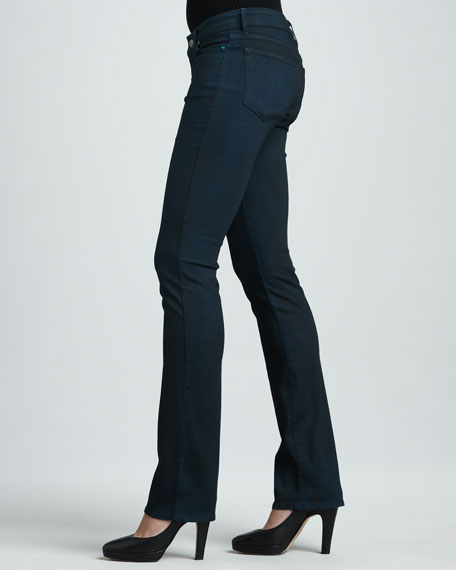 Faith Sparkle Straight-Leg Jeans