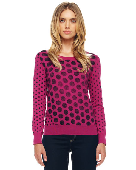 Dotted Knit Pullover