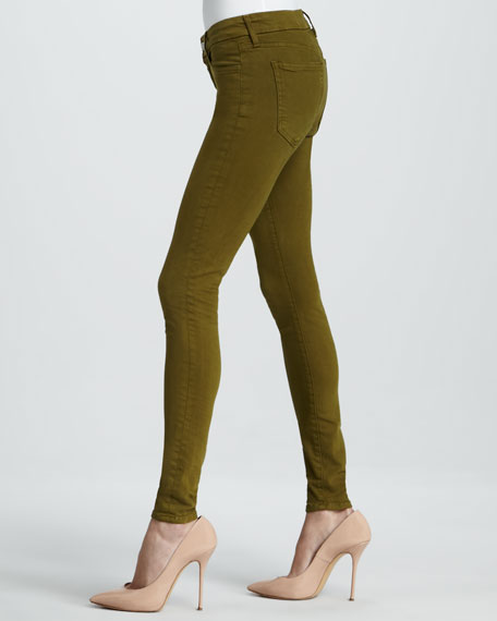 Skinny Avocado Stretch Jeans