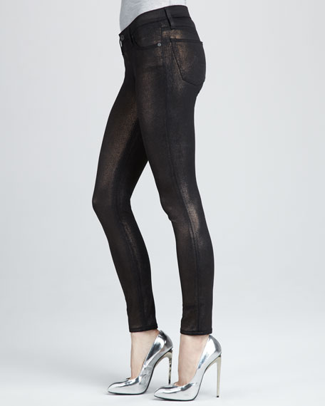 Super Skinny Bronze Knit Leggings