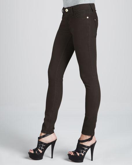 Bag Snob Essentials Amanda Travel St. Barth's Wash Skinny Zip-Pocket Jeans