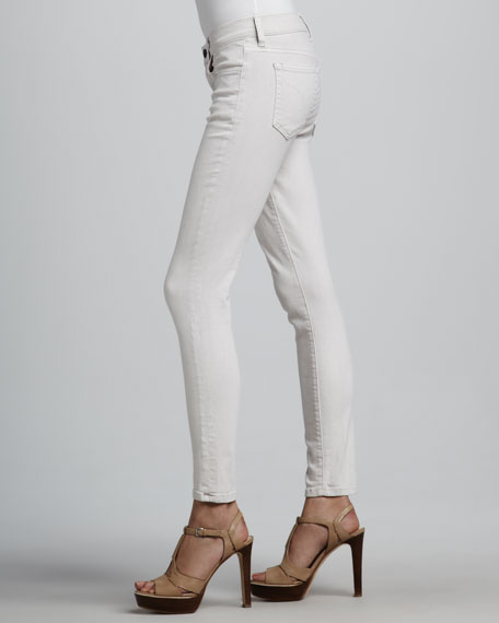 Straight-Leg Cropped Jeans, Pink Flush