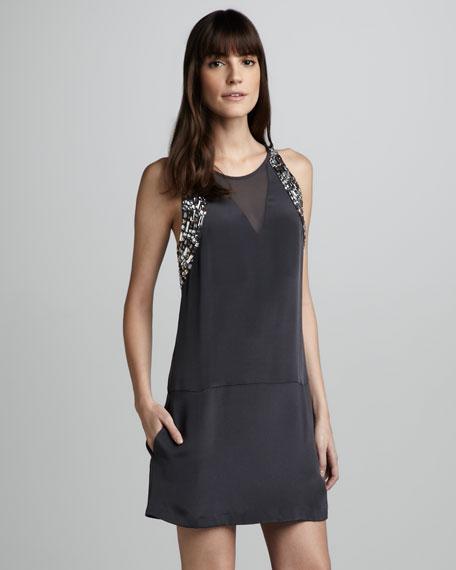 Jeweled Shift Dress