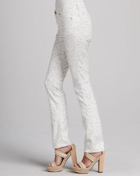 Saddie-Straight Leopard Jeans