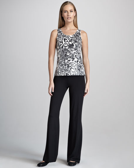Animal-Print Jacket, Tank & Pants Set