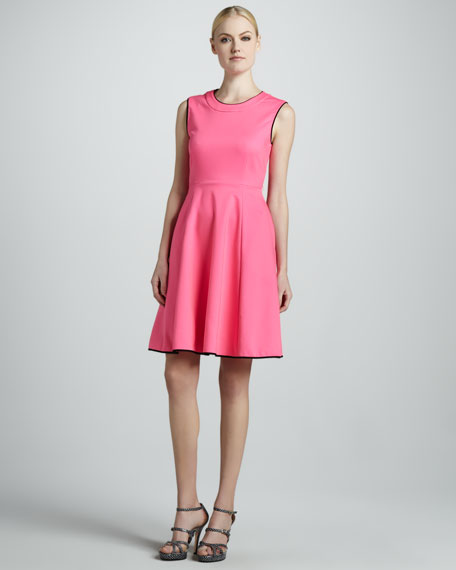 carol sleeveless flare dress