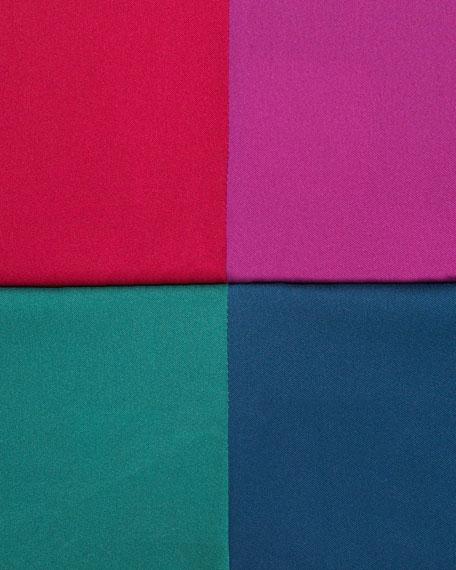 Netta Colorblock Silk Blouse