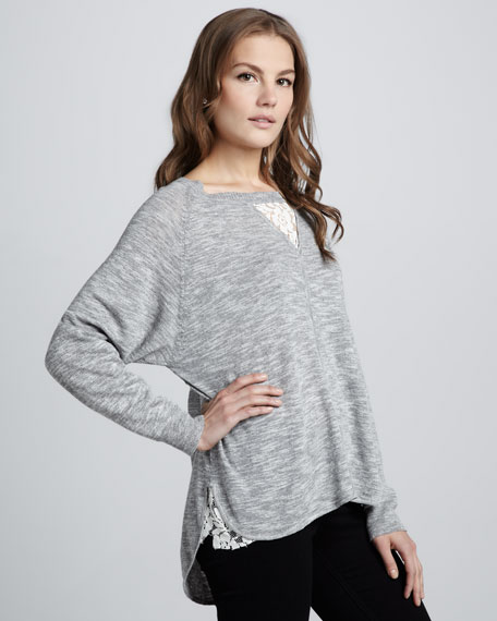 Alex Lace-Inset Sweater