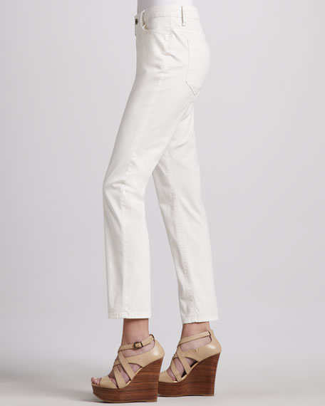 Isabel Island Twill Ankle-Cut Pants