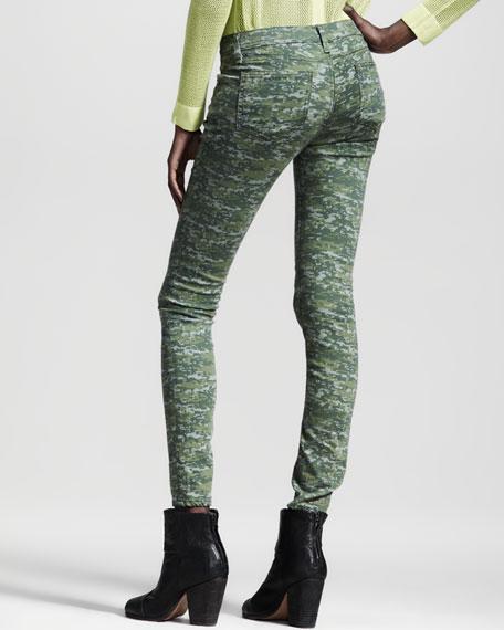 Skinny Camo-Print Jeans