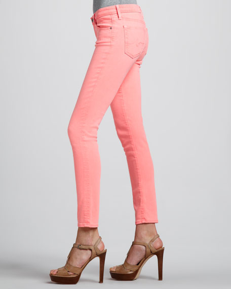 Denim Ankle Leggings, Flamingo