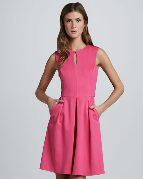 Sunnie Ponte Keyhole Dress