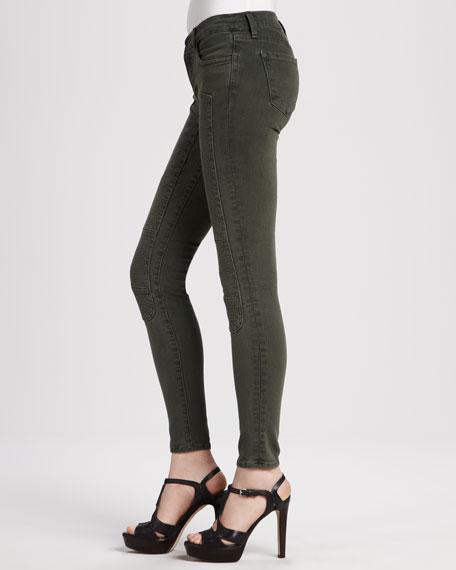 Roz Mantis Moto Paneled Skinny Jeans
