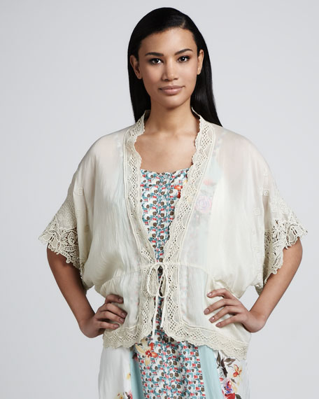 Lace-Trim Jacket