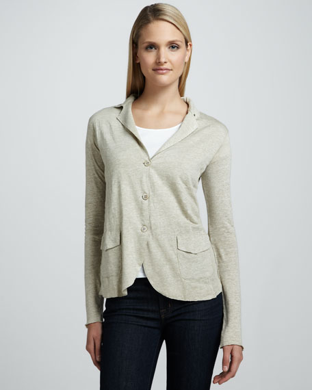 Soft Touch Three-Button Blazer