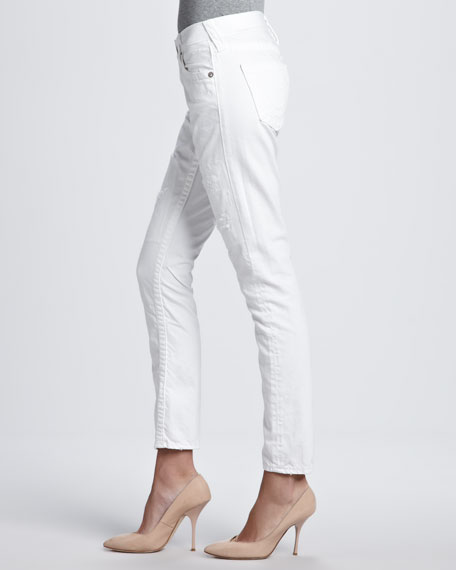 Brianna Slim Boyfriend Fit Jeans, White