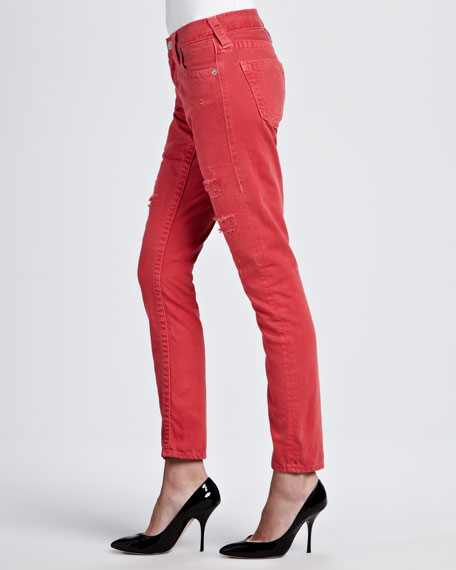 Brianna Boyfriend Fit Jeans, Cherry