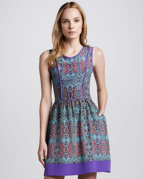 Taryn Printed Silk Dress