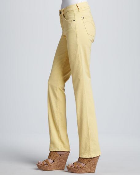 Katie Straight-Leg Control-Panel Jeans