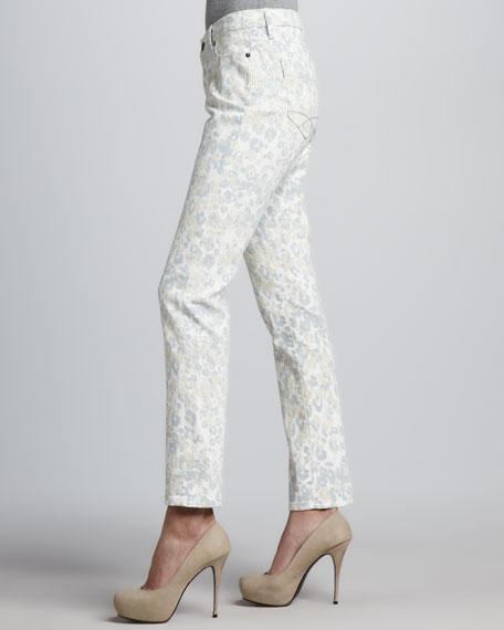Amur Island Twill Leopard-Print Pants