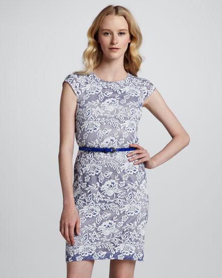 Sleeveless Triangle-Back Lace Dress