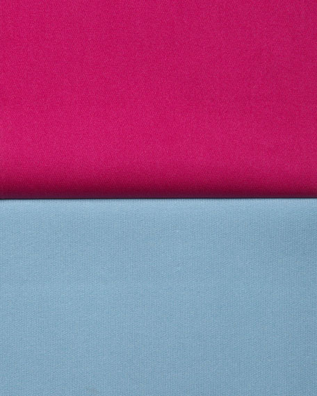 Silk Half-Placket Blouse