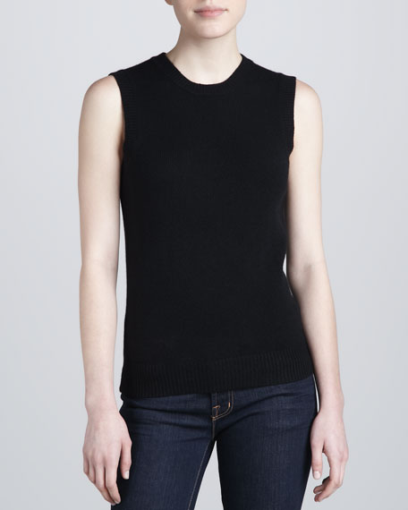Sleeveless Sweater with Cowl