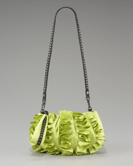 Belle Ruffled Evening Bag