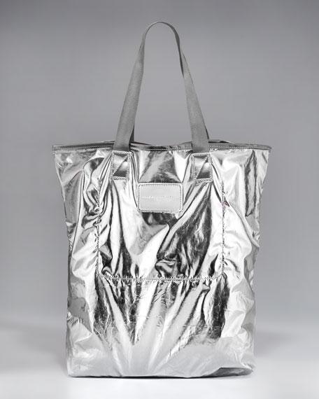 Metallic Packable Shopper