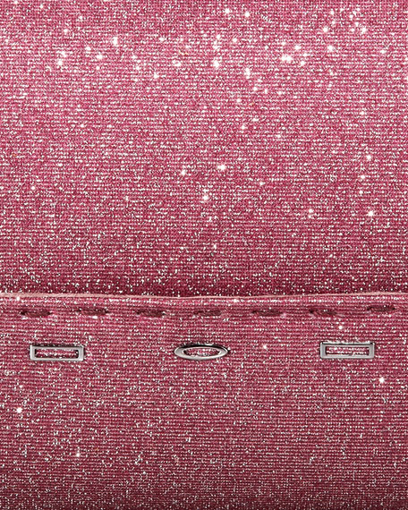 Manila Stretch Sparkle Clutch Bag, Rose