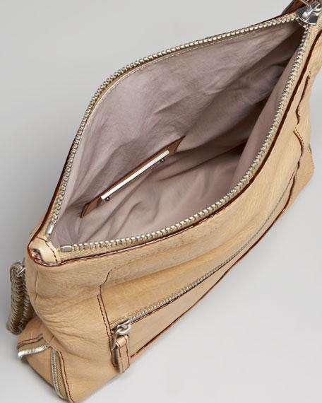 Fold-Over Chain-Strap Bag