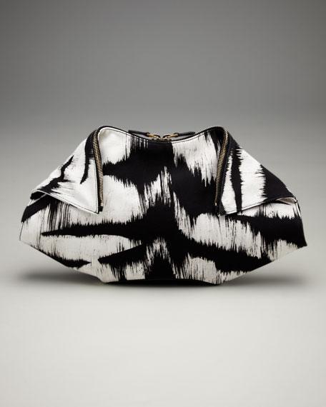 Alexander McQueen De-Manta Tiger-Print Clutch