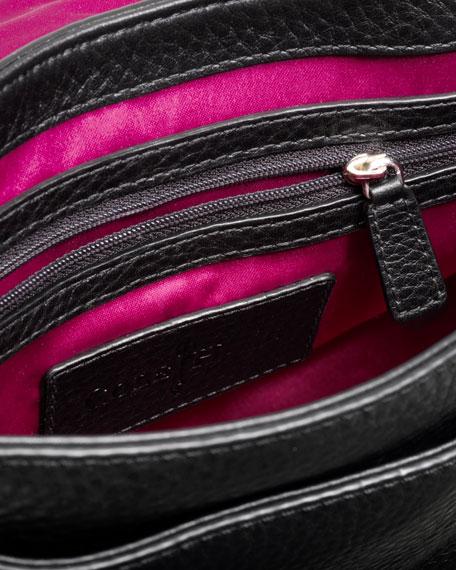 Ava Flap Crossbody Bag, Black