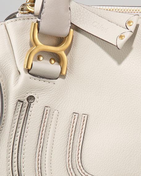 Small Marcie Shoulder Bag, Dove
