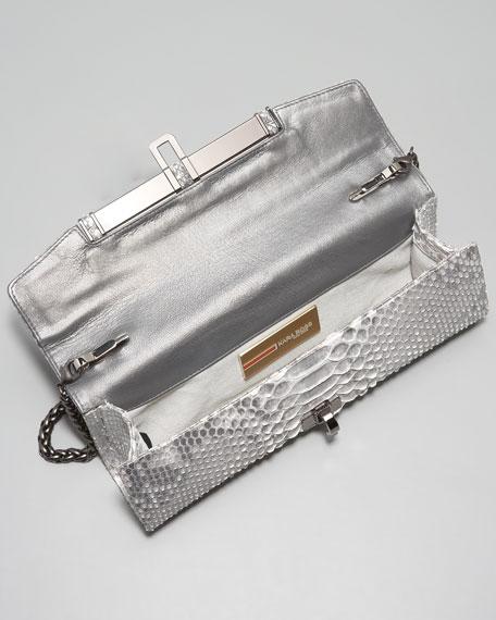 Emalia Python Clutch Bag