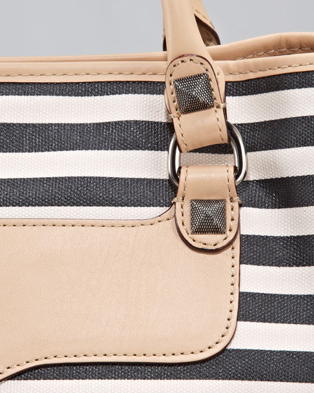 Rebecca Minkoff Striped Canvas Tote Bag