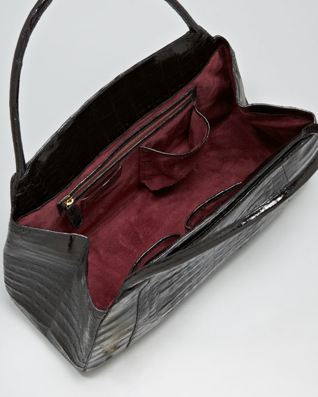 Top-Handle Croc Bag