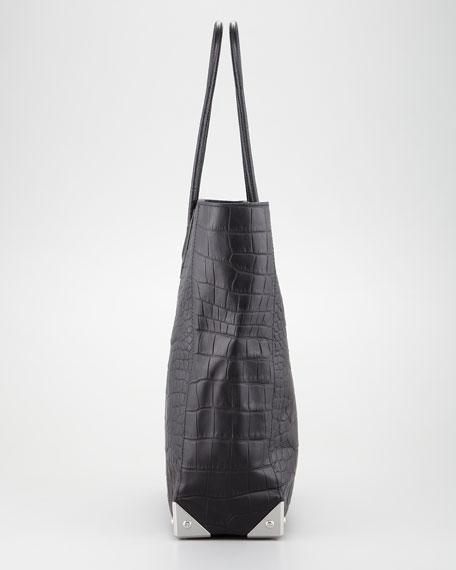 Prisma Crocodile-Embossed Tote Bag